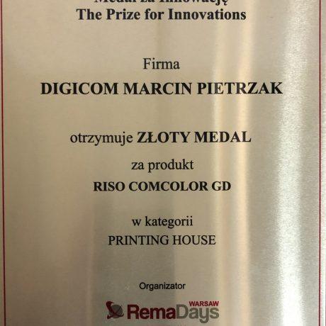 Złoty medal dla Digicom w kategorii